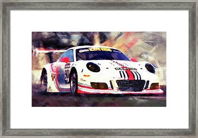 Porsche Gt3 Martini Racing - 04 Framed Print by Andrea Mazzocchetti