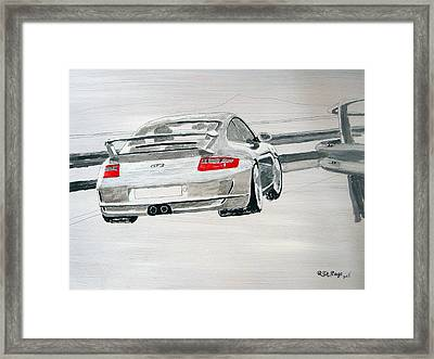 Framed Print featuring the painting Porsche Gt3 by Richard Le Page