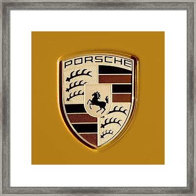 Porsche Oil Paint Filter 121615 Framed Print