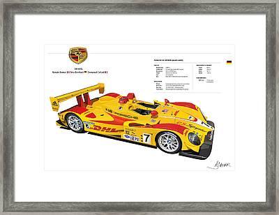Porsche Poster Rs Spyder Framed Print by Alain Jamar