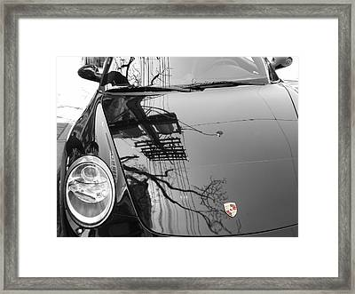 Porsche Reflections Framed Print