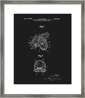 Porsche Steering Wheel Patent Framed Print