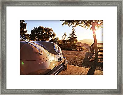 Porsche Sundown Framed Print