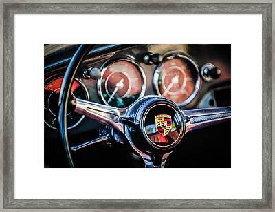 Porsche Super 90 Steering Wheel Emblem -1537c Framed Print