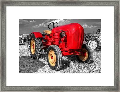 Porsche Tractor Framed Print by Rob Hawkins