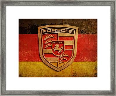 Porsche Vintage  Framed Print