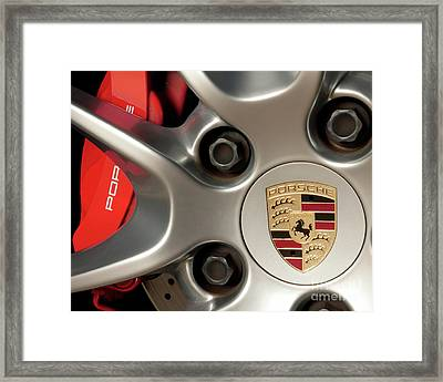 Porsche Wheel Detail #1 Framed Print