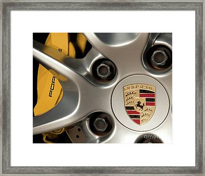 Porsche Wheel Detail #2 Framed Print