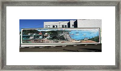 Port Angeles 1914 Mural Framed Print by David Lee Thompson