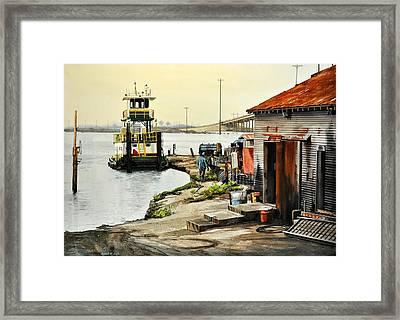Port Aransas Ways Framed Print