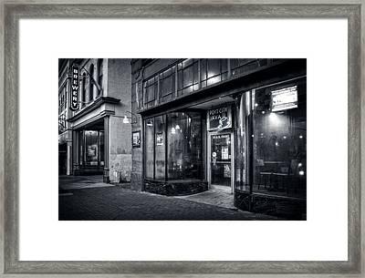 Port City Java In Black And White Framed Print