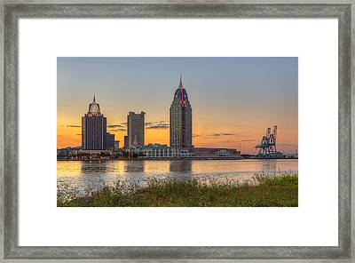 Port City Sunset 2 Framed Print