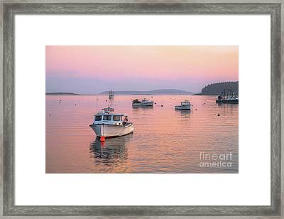 Port Clyde Light Framed Print by Benjamin Williamson