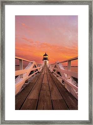 Port Clyde Maine - Marshall Point Framed Print by Thomas Schoeller