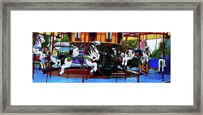Port Dover Carousel Framed Print by Leslie Montgomery