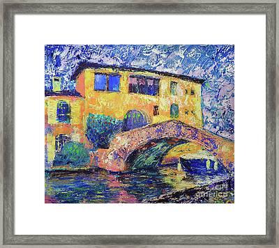 Port Grimaud Bridge Framed Print by Denys Kuvaiev