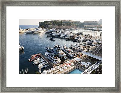 Port Hercule In Monaco Framed Print by Elena Elisseeva