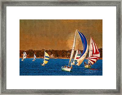 Port Huron Sailboat Race Framed Print