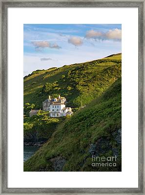 Framed Print featuring the photograph Port Isaac Homes by Brian Jannsen