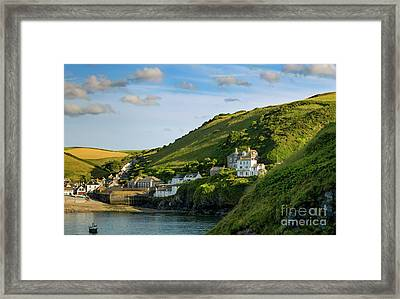 Framed Print featuring the photograph Port Issac Hills by Brian Jannsen