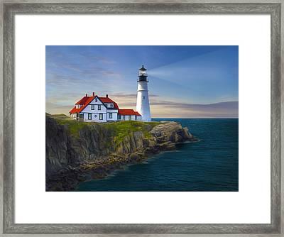 Port Lighthouse Framed Print by James Charles