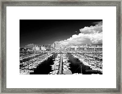 Port Lines Framed Print by John Rizzuto
