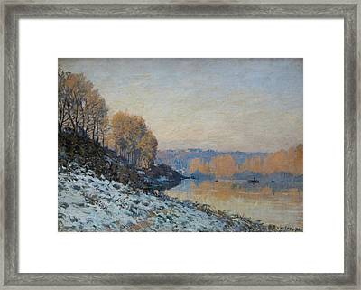 Port Marly, Hoarfrost  Framed Print by Alfred Sisley