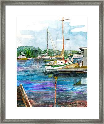 Framed Print featuring the painting Port Mcneil Bc by Eric Samuelson