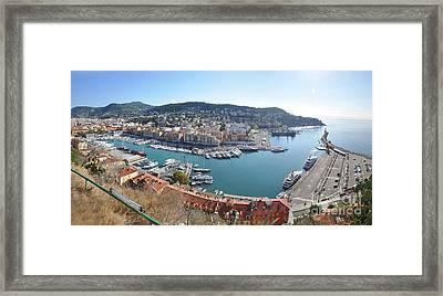 Framed Print featuring the photograph Port Nice Panorama by Yhun Suarez