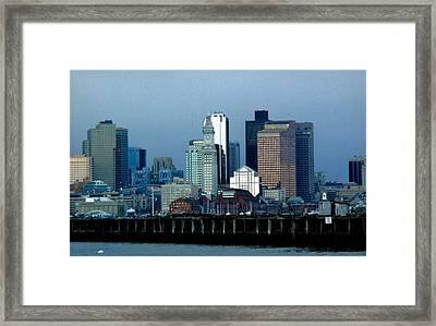 Port Of Boston Framed Print