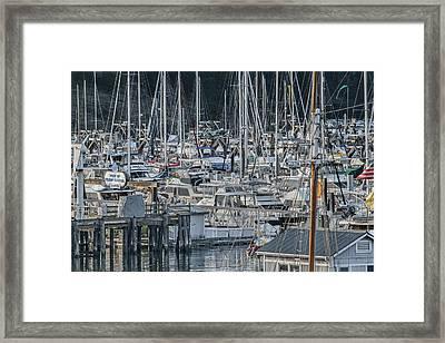 Port Of Friday Harbor Marina Framed Print