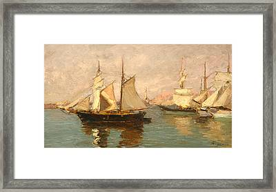 Port Of Genoa Framed Print by Andrea Figari