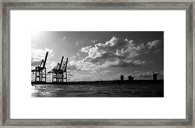 Port Of Hamburg Germany - Gateway To The World Framed Print