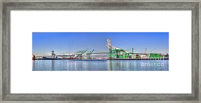 Port Of Los Angeles - Panoramic Framed Print
