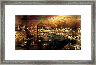 The Old Port Of Marseille Framed Print