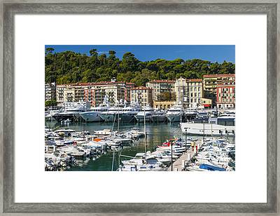 Port Of Nice Framed Print
