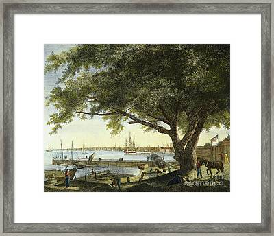 Port Of Philadelphia, 1800 Framed Print by Granger