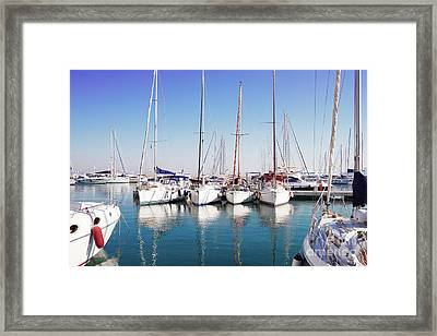 Port Of Procida Framed Print