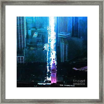 Framed Print featuring the photograph Port Of San Francisco Skyline 20161119sq by Wingsdomain Art and Photography