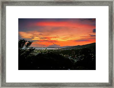 Port Of Spain Sunset Framed Print
