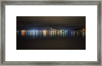 Port Of Tacoma Lights Framed Print