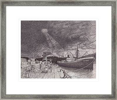 Port Of Tacoma Wa Waterfront Framed Print