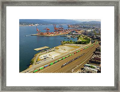 Port Of Vancouver Bc Framed Print by David Gn