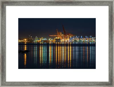Port Of Vancouver In British Columbia Canada Framed Print by David Gn