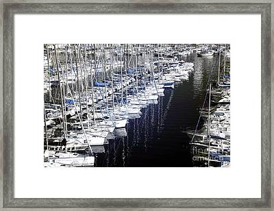 Port Parking Framed Print