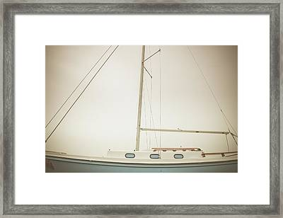 Port - Parts Of A Sailboat Framed Print