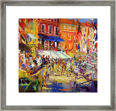 Port Promenade Saint-tropez Framed Print by Peter Graham