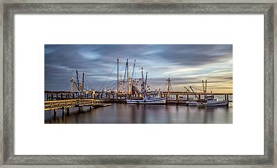 Port Royal Shrimp Boats Framed Print