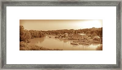 Port Stanley Waterway Framed Print