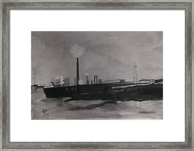 Port Talbot Steel Works Framed Print by Carole Robins